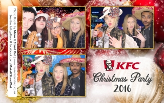 KFC Christmas Party photo booth