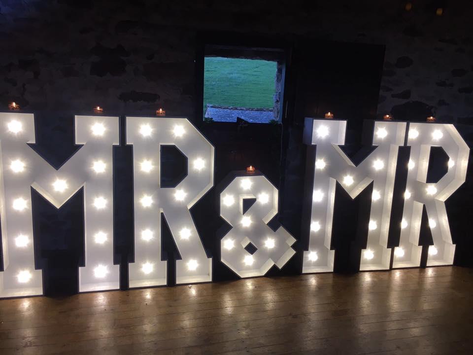 Knipe Hall LED Letters MR