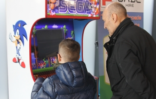 retro arcade machine hire north west